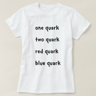 Un Quark rojo del azul del Quark del Quark del Camiseta