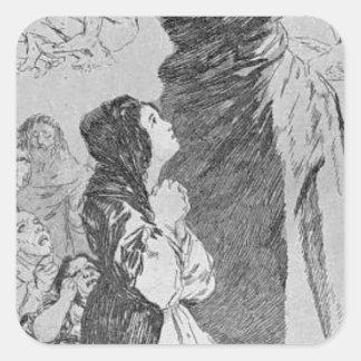 ¡Un qué sastre puede hacer! por Francisco Goya Pegatina Cuadrada
