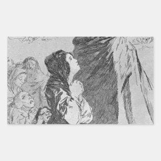 ¡Un qué sastre puede hacer! por Francisco Goya Pegatina Rectangular
