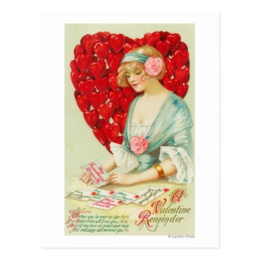 Un recordatorio de la tarjeta del día de San Postal