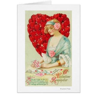 Un recordatorio de la tarjeta del día de San Valen