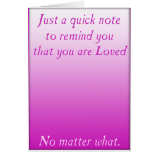 Un recordatorio rápido del amor (rosa) tarjeta de felicitación