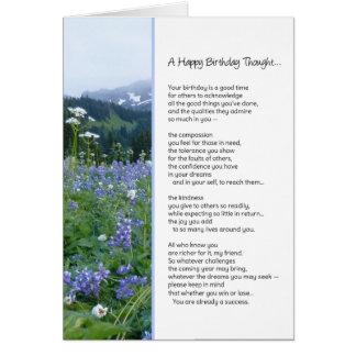 Un religioso pensada del feliz cumpleaños… tarjeta de felicitación
