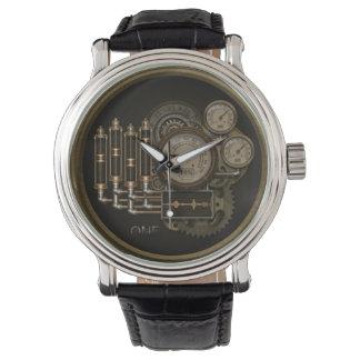 Un reloj Nerdy del vapor