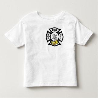 Un rescate amarillo del coche de bomberos camiseta de bebé