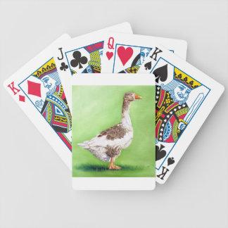 Un retrato de un ganso baraja de cartas bicycle