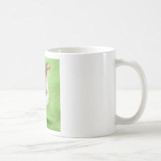 Un retrato de un ganso taza de café