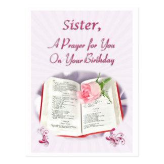 Un rezo para una hermana en su cumpleaños postal