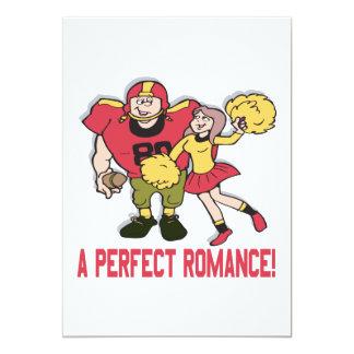 Un romance perfecto invitación 12,7 x 17,8 cm
