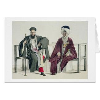 Un sacerdote griego y un turco, grabados por el Th Tarjeta De Felicitación