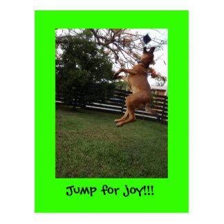 ¡Un salto para la alegría!! Postal