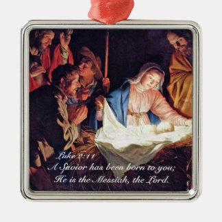 Un salvador ha sido Lucas nacido 2, natividad del Adorno De Cerámica