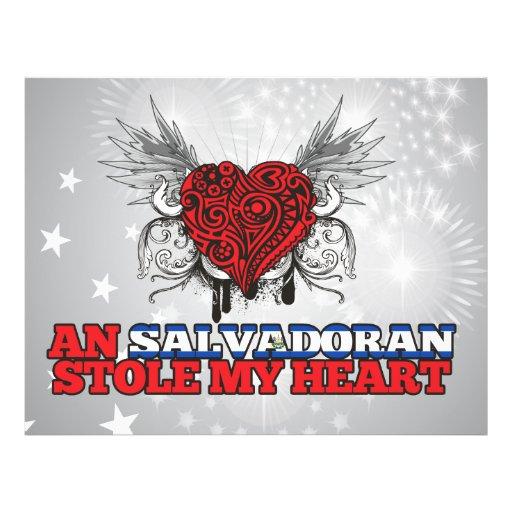 Un salvadoreño robó mi corazón tarjeton