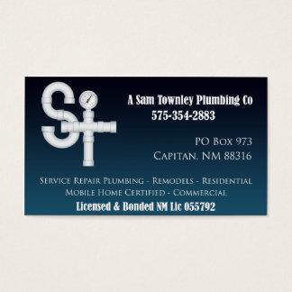 Un Sam Townley Plumbing Company Tarjeta De Visita
