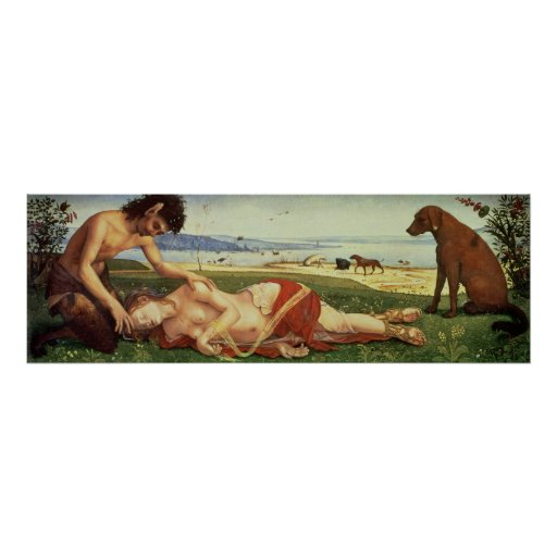 Un sátiro que está de luto sobre una ninfa, c.1495 poster
