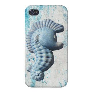Un Seahorse caprichoso divertido lindo iPhone 4/4S Fundas