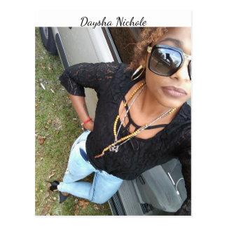 Un selfie de Daysha Nichole, postal