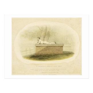 Un señor Byron (1788-1824 del escolar de la grada  Postal