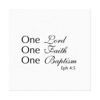 Un señor Faith Baptism Impresion En Lona
