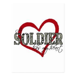 Un soldado tiene mi corazón postal