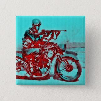 Un soldado WWII de la motocicleta Chapa Cuadrada