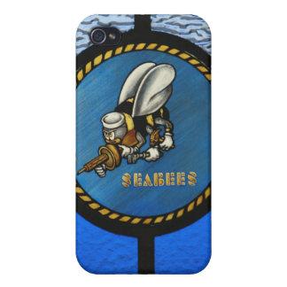 Un solo logotipo de la ingeniero de infanteria de  iPhone 4 carcasa