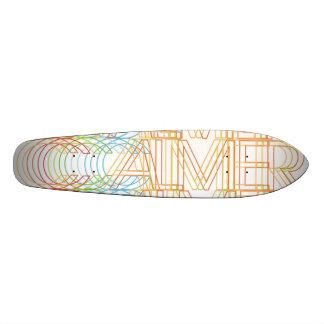 Un solo logotipo más tranquilo del espectro patineta personalizada