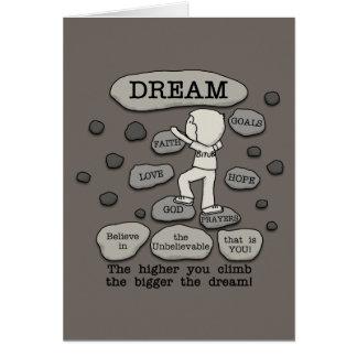 Un sueño más grande tarjeta de felicitación