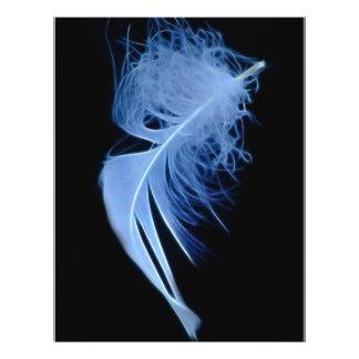 Un susurro de una pluma folleto 21,6 x 28 cm