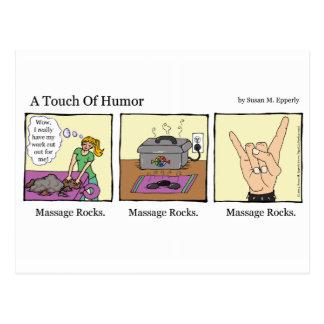 """Un tacto masaje del humor"" oscila cómico Postal"