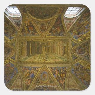 Un techo frecoed por Raphael en el Pasillo de Calcomanías Cuadradas