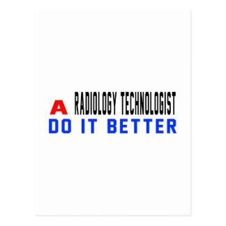 Un tecnólogo de la radiología mejora tarjeta postal