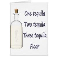 Un tequila cuatro del tequila tres del tequila dos