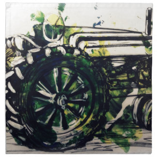 ¡Un tractor! Servilleta Imprimida