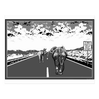 Un tráfico más lento guarda las postales derechas