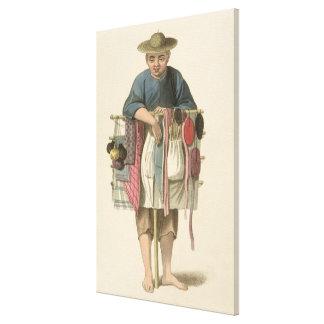 """Un vendedor ambulante, platea 17 """"del traje de Chi Impresión En Lona Estirada"""