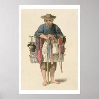 """Un vendedor ambulante, platea 17 """"del traje de Chi Posters"""