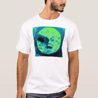 Un viaje a la luna (aguamarina Sci retro marino Camiseta