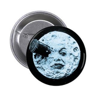 Un viaje a la luna chapa redonda de 5 cm