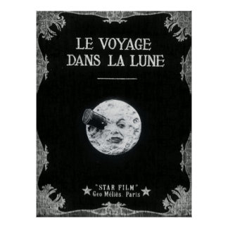 Un viaje a la luna o al la Lune de los dans de Le Póster