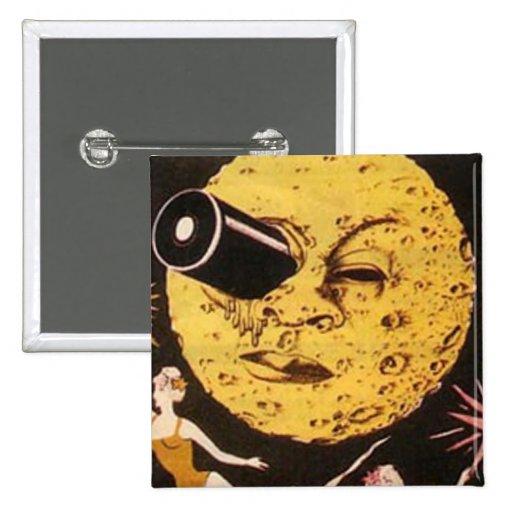 Un viaje al cartel de película de la luna pins