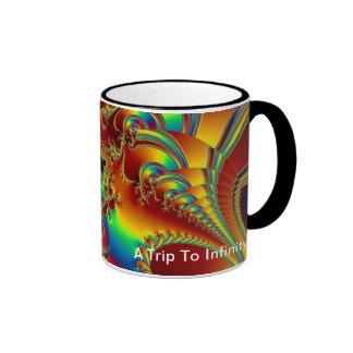 Un viaje al infinito taza de dos colores