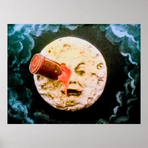 Un viaje al vintage de la luna impresiones