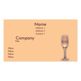 Un vidrios tarjeta personal