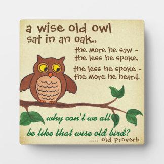 Un viejo proverbio sabio - placa