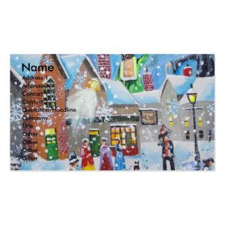 un villancico Scrooge del navidad y los tres Tarjetas De Visita