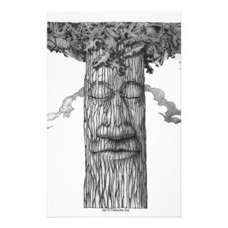 Un &W poderoso de la cubierta del árbol Papeleria Personalizada