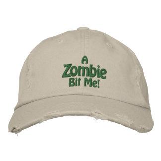 ¡Un zombi me mordió Gorra de piedra apenado Gorra Bordada