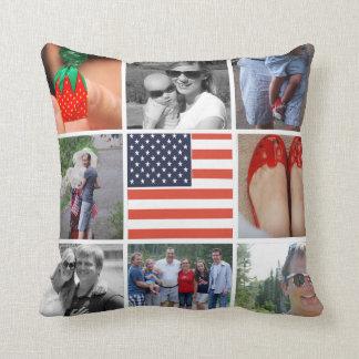 Una almohada de Instagram de la bandera americana