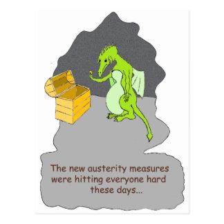 Una austeridad de los dragones postal